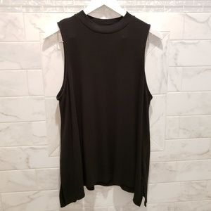 Black Mock Neck Tank